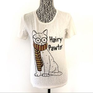 Fuego Hairy Pawter Harry Potter graphic tee small